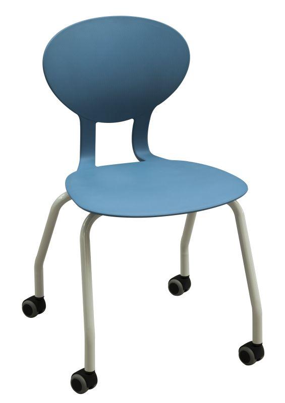 Chaise mobile 4 pieds sur roulette  freinée en charge KAPPA