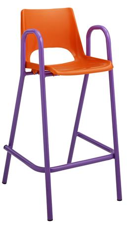 Chaise maternelle GIRAFE - coque plastique - 4 pieds